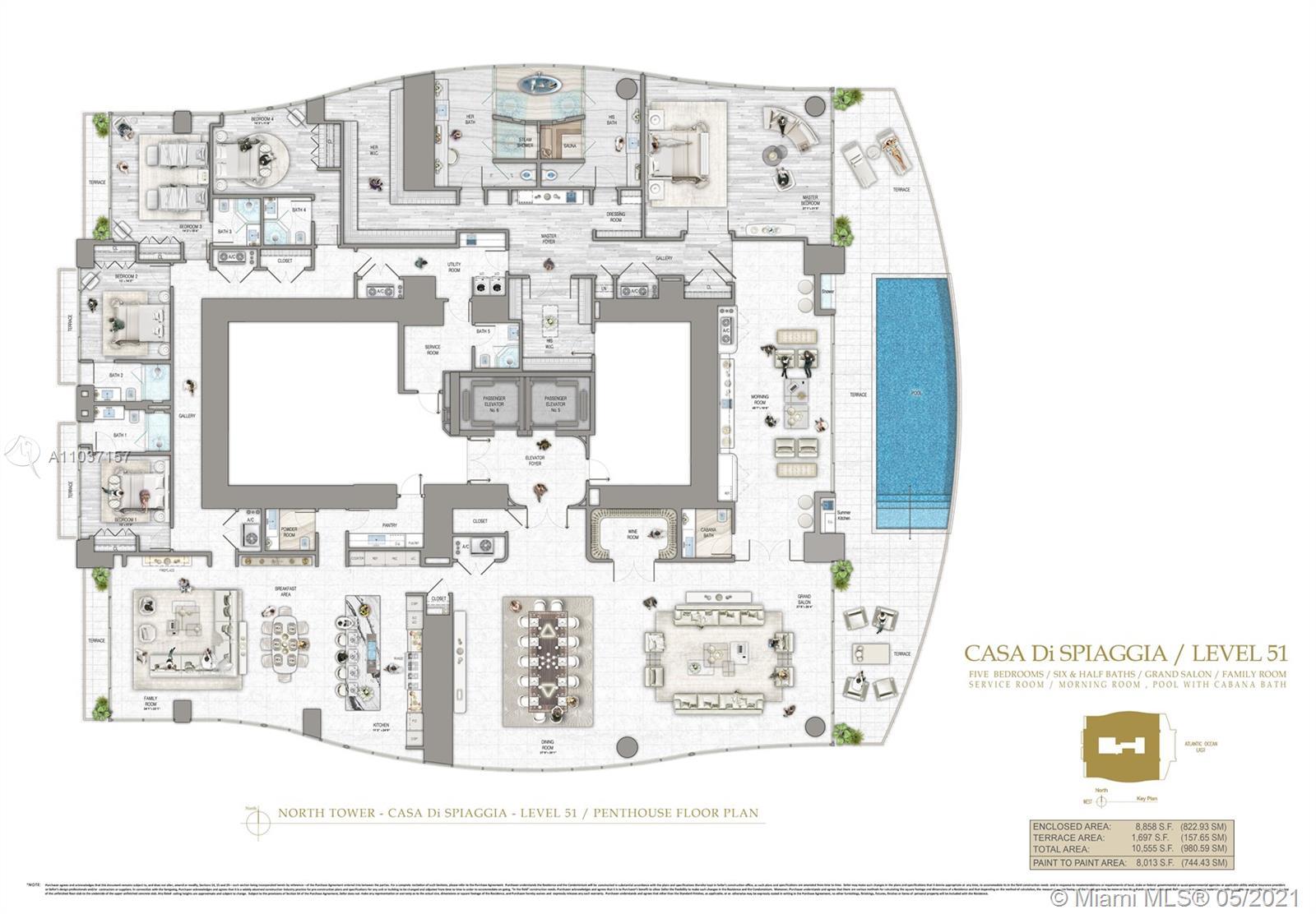 17901 Collins, Unit #PH 51 Luxury Real Estate