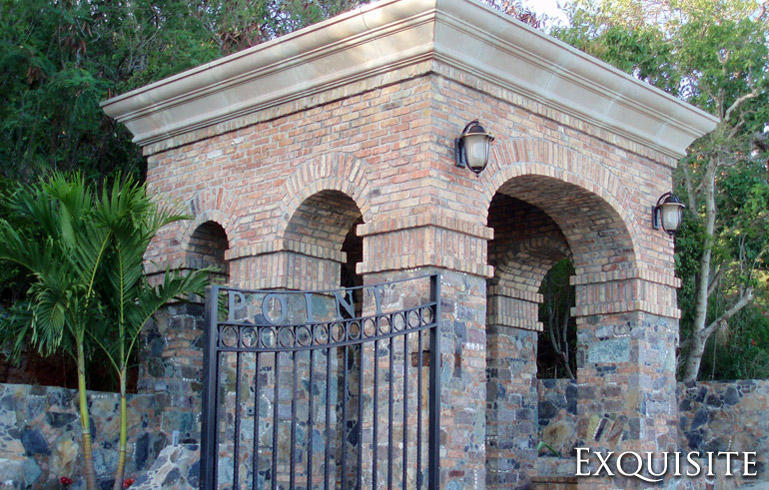 Exquisite Entry Gate House
