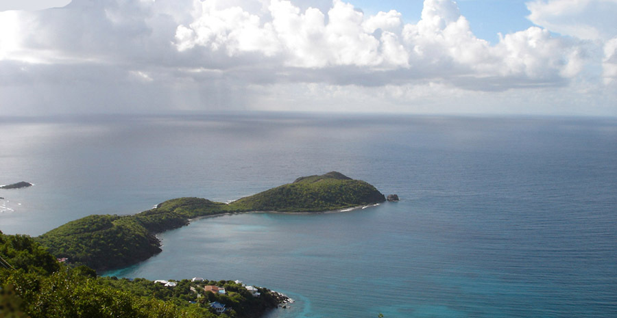 VIEW OVER RENDEZVOUS BAY TO DITLEFF PT