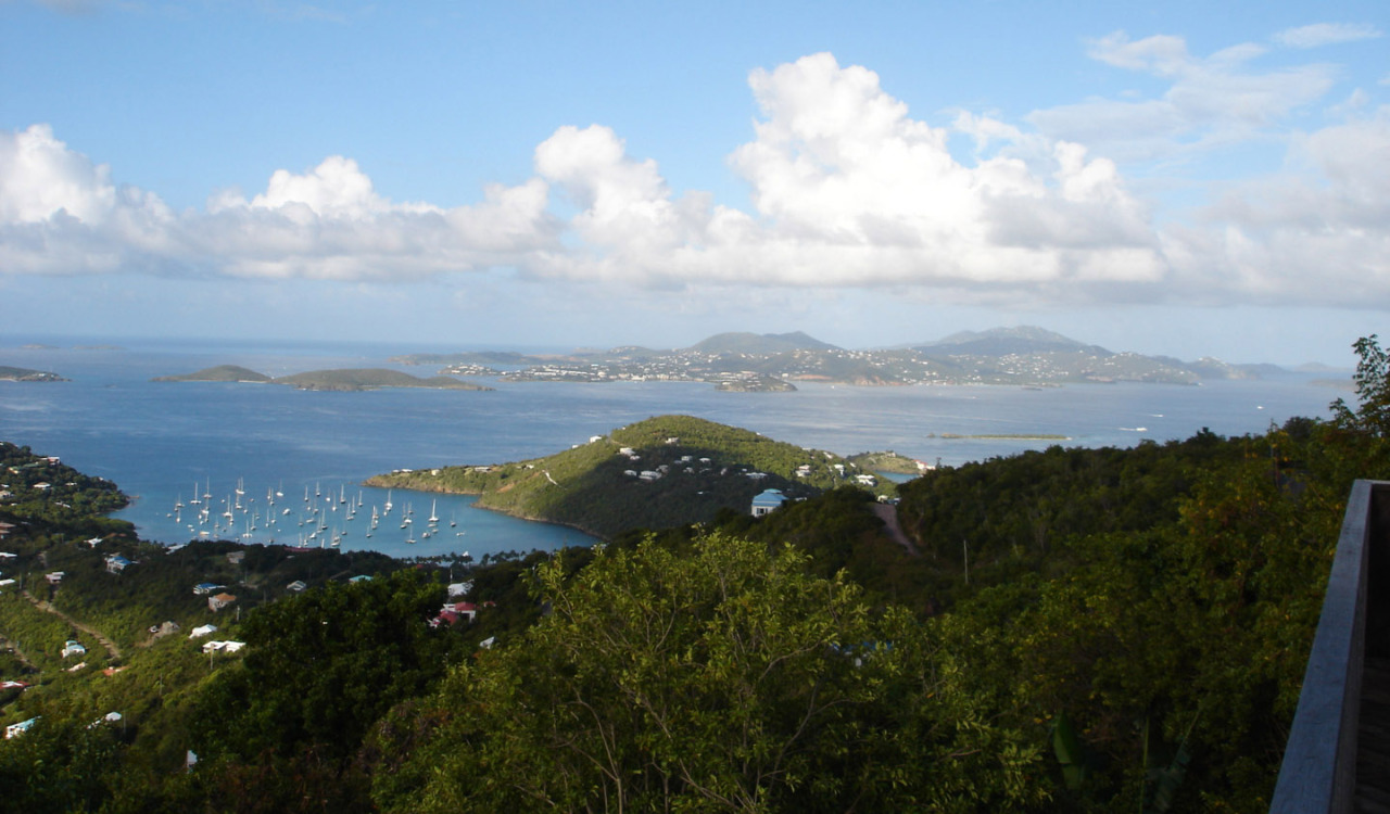 VIEW OVER GREAT CRUZ BAY TO DOG ISLAND