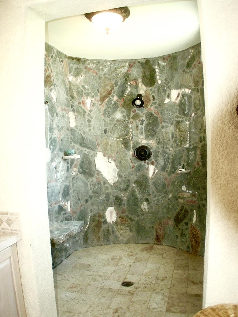 Upper level: stone shower #2