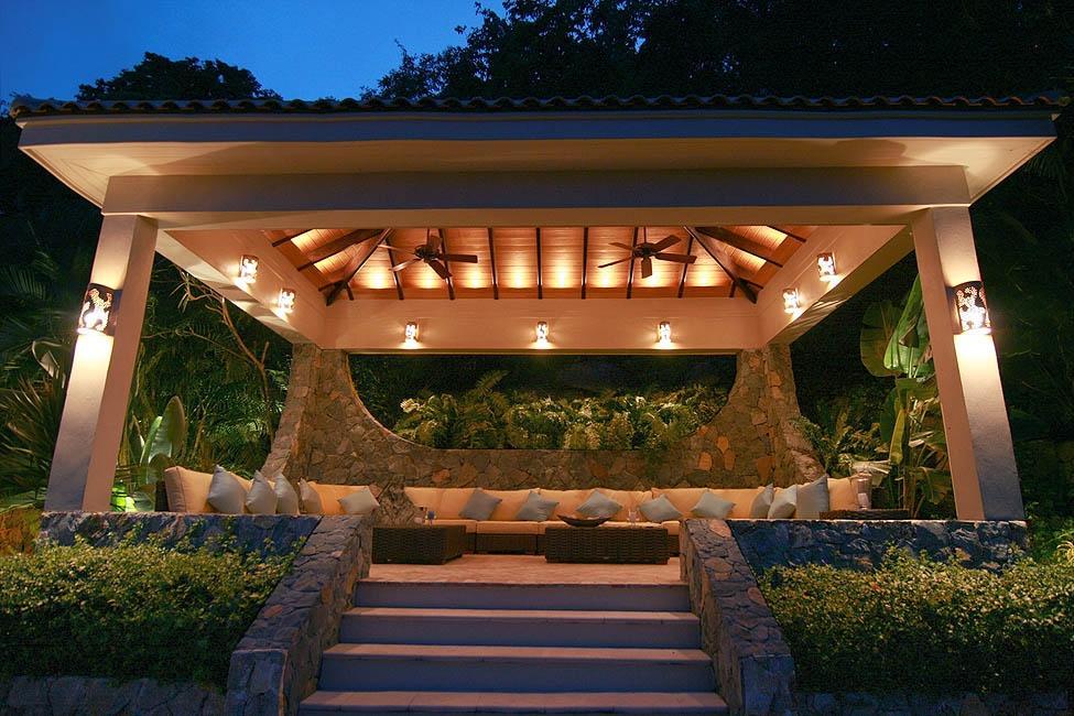 Pool Cabana at Twilight