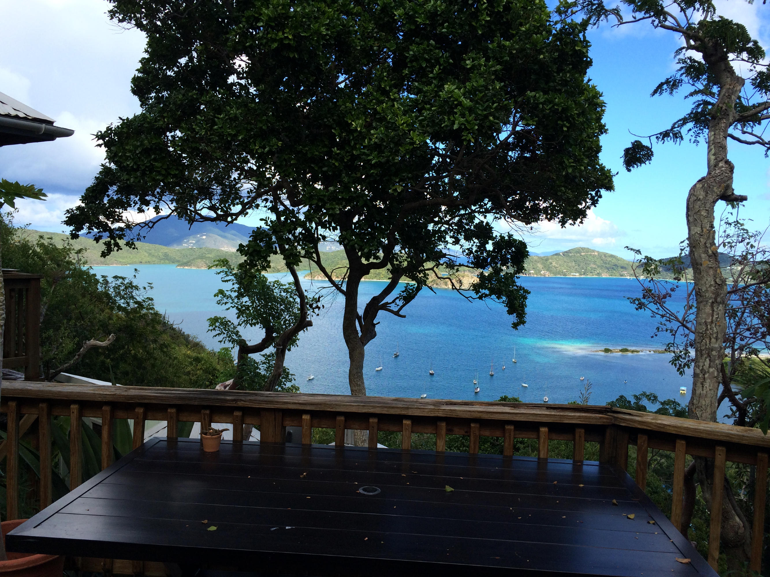 Deck and views over Hurricane Hole