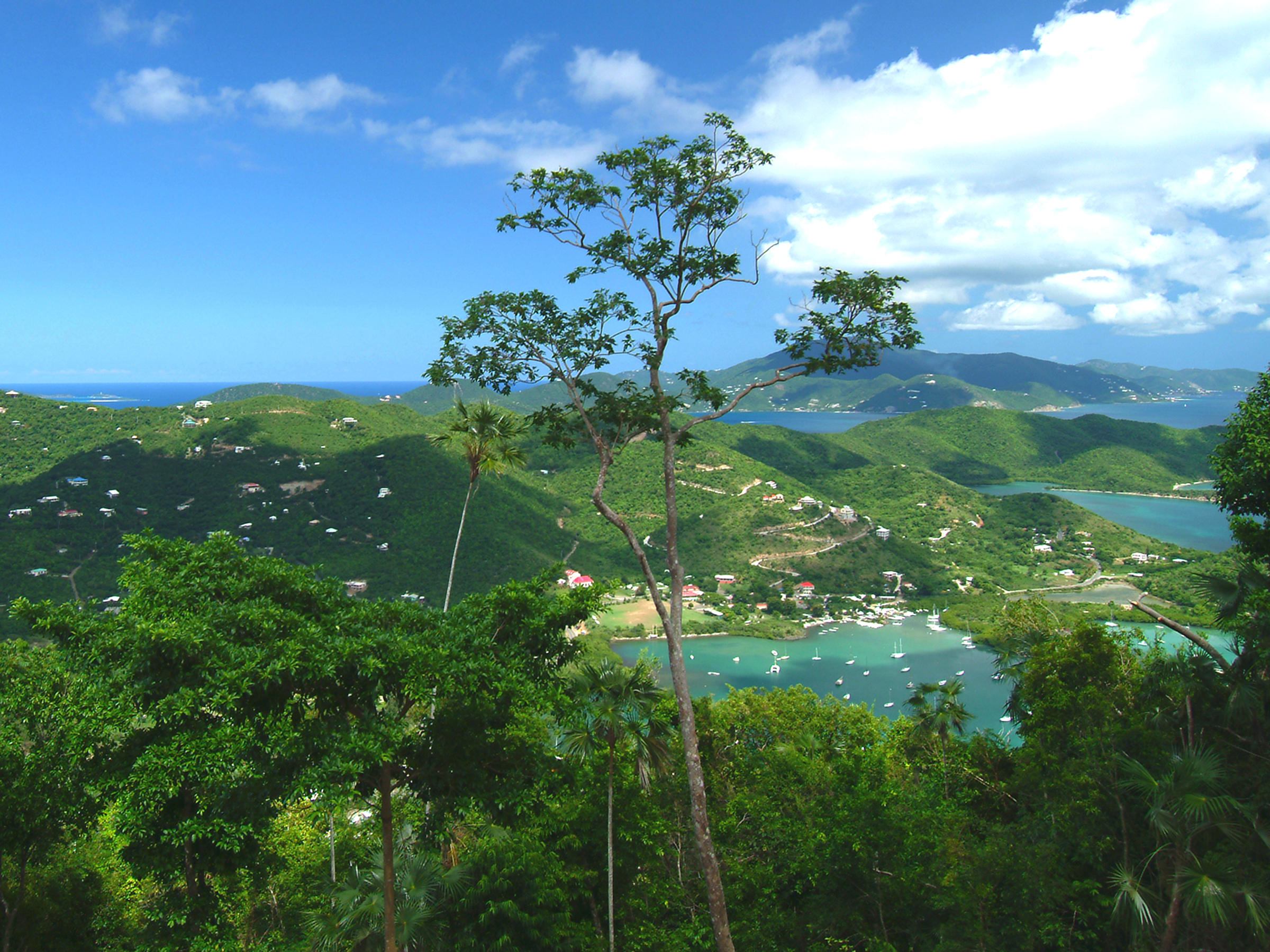VIEW CORAL BAY TO TORTOLA