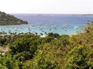 View over the Westin and Great Cruz bay