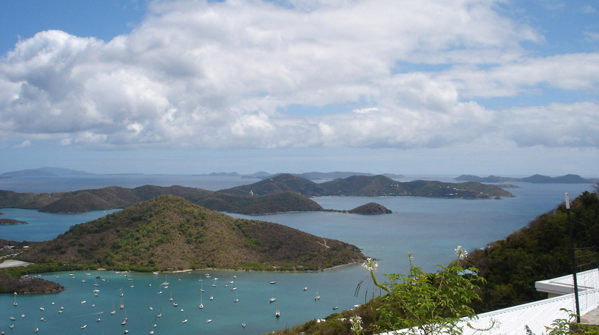 VIEW OVER CORAL BAY TO TORTOLA