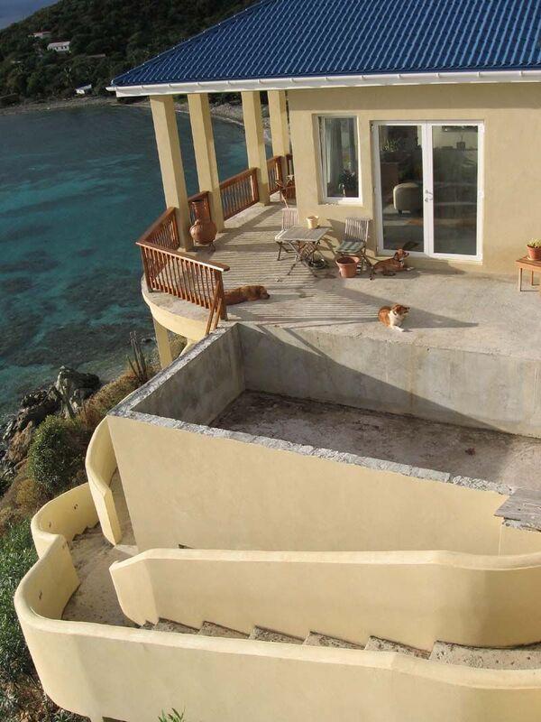 Pool & exterior stairway