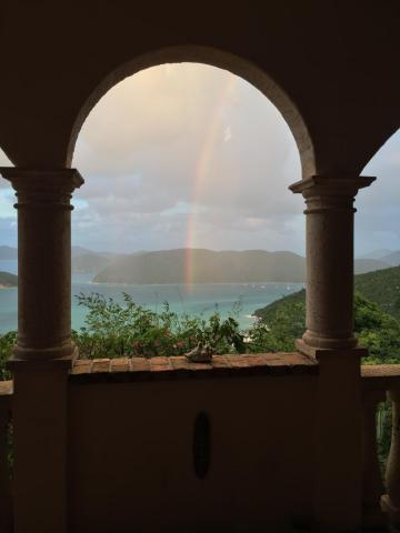 late afternoon rainbow