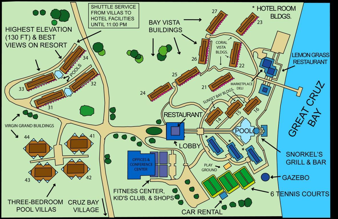 Map of the Westin Resort