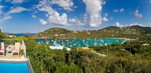 View to St. Thomas over Pool and Bay
