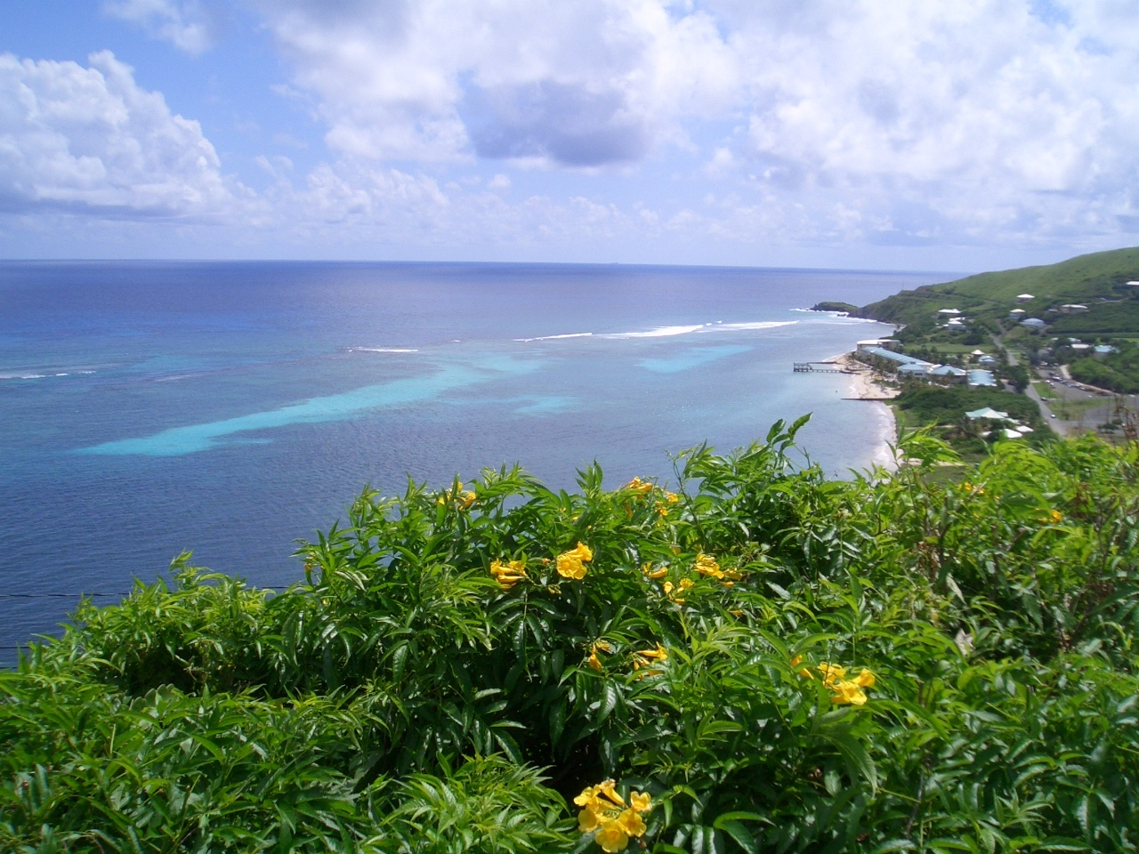Nearby view of the stunning Caribbean Se