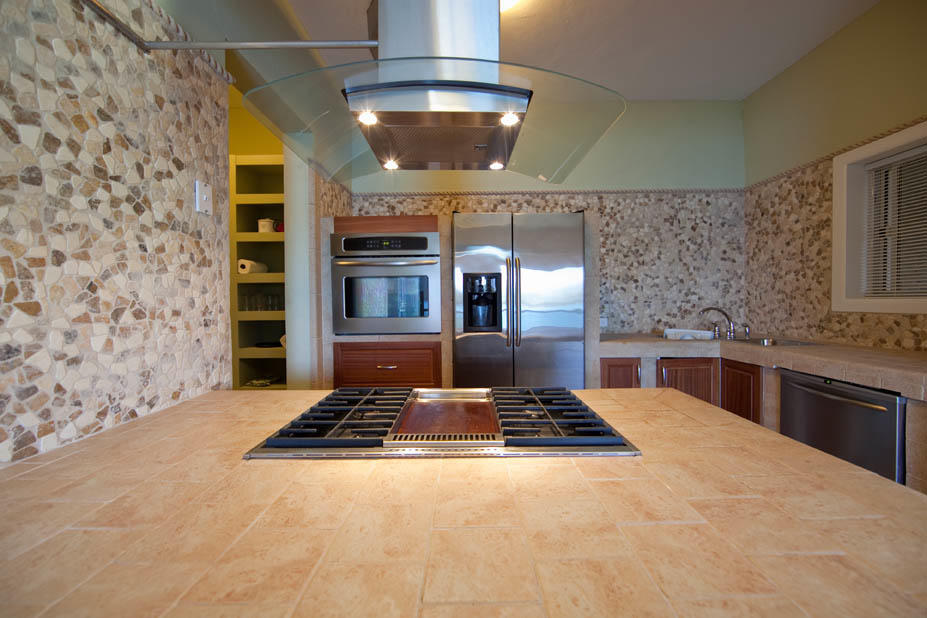 Stone-lined kitchens