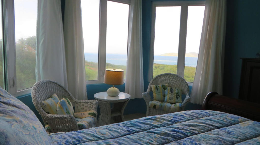 Guest bedroom with pretty sea views