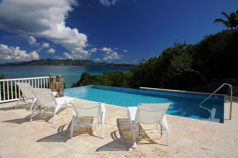 Pool with St. John views