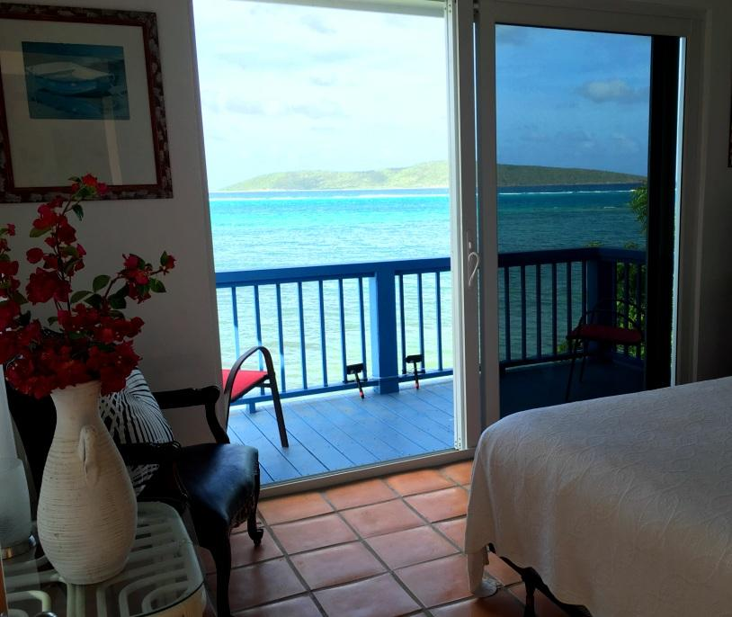 Upstairs bedroom w/Buck Island view
