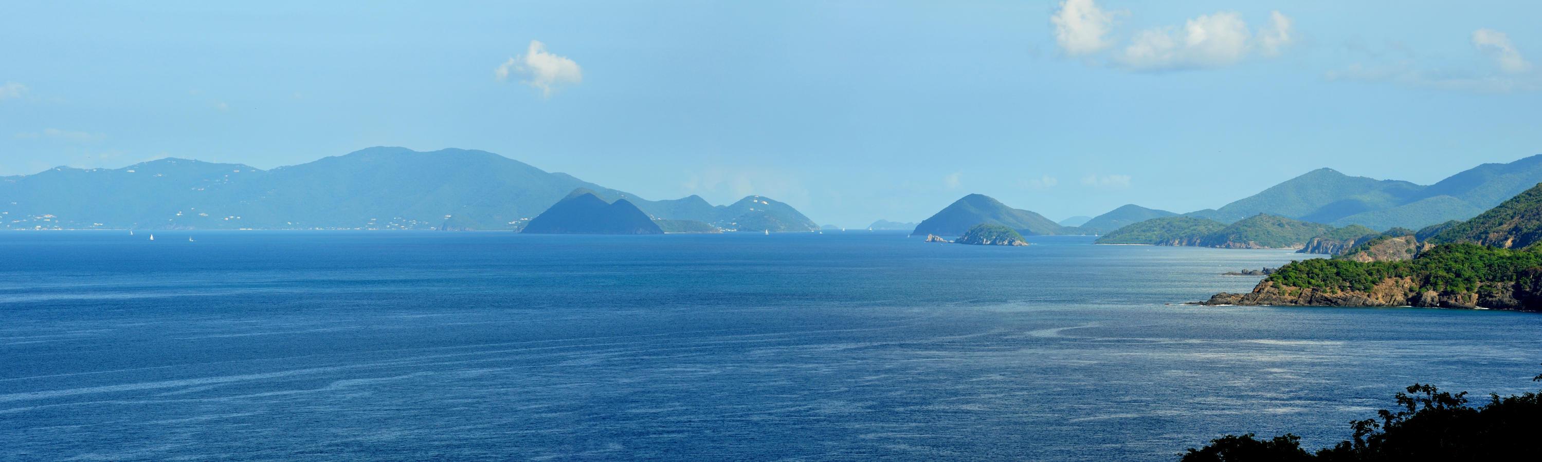 Panoramic Views Over Azure Ocean
