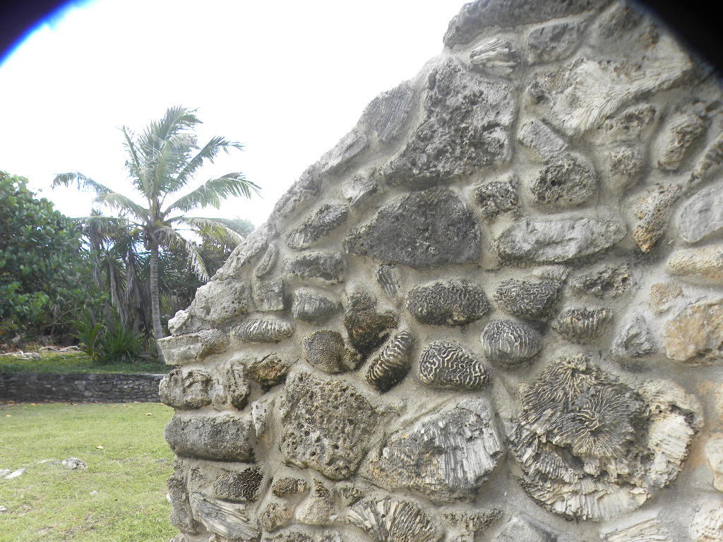 Unique coral and stonework