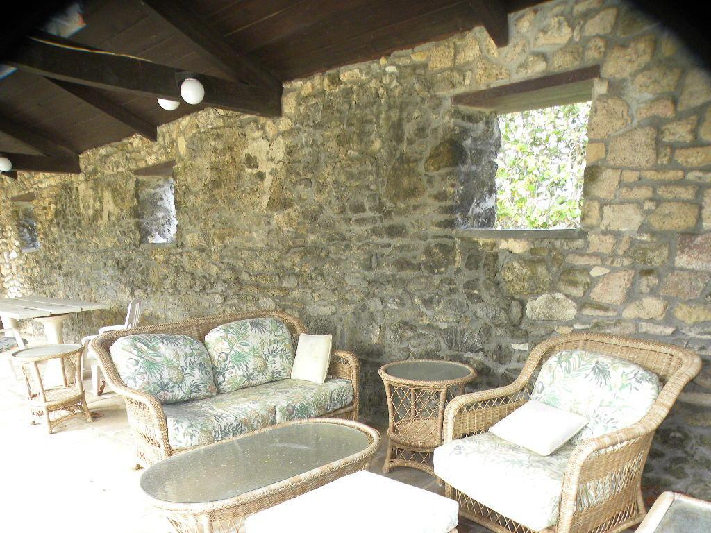 Interior stonework of lanai