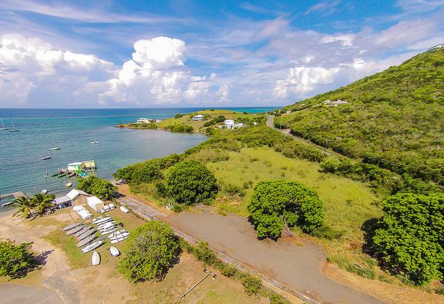 acreage behind the beach and marina pier