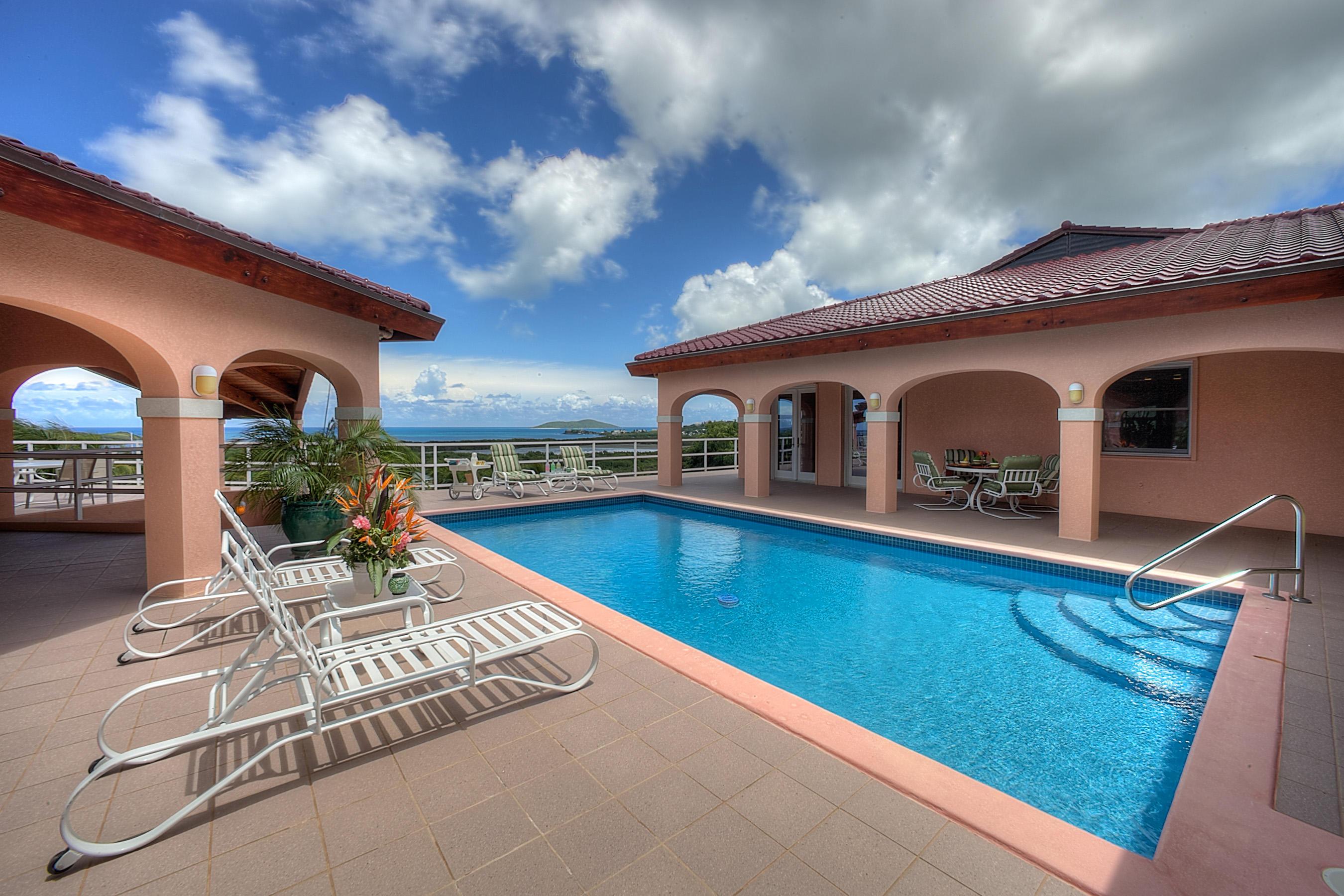 Pool with Buck Island View