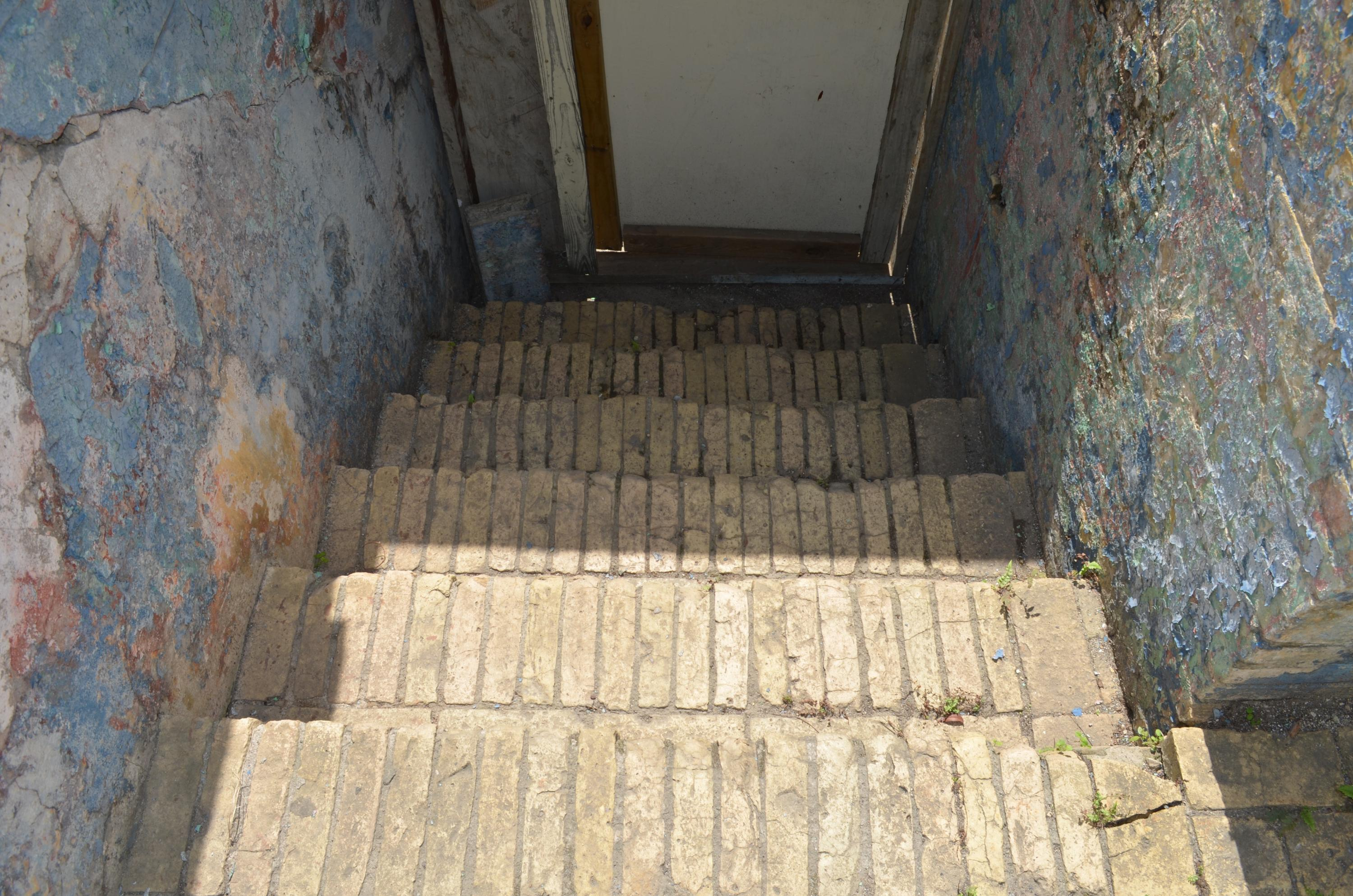 Stairs to street