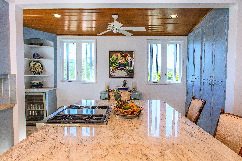 New granite cooktop island