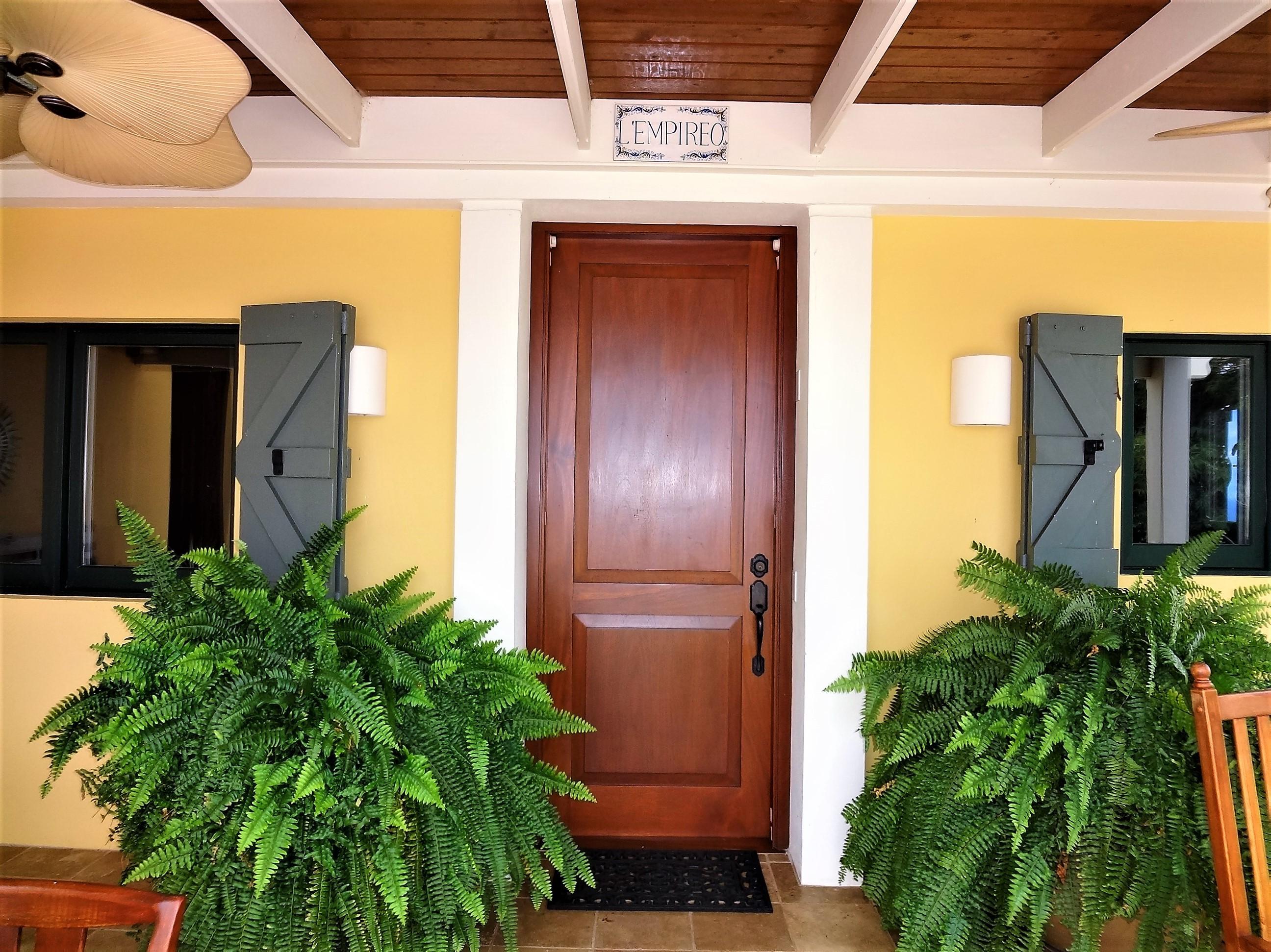 Door to utility room