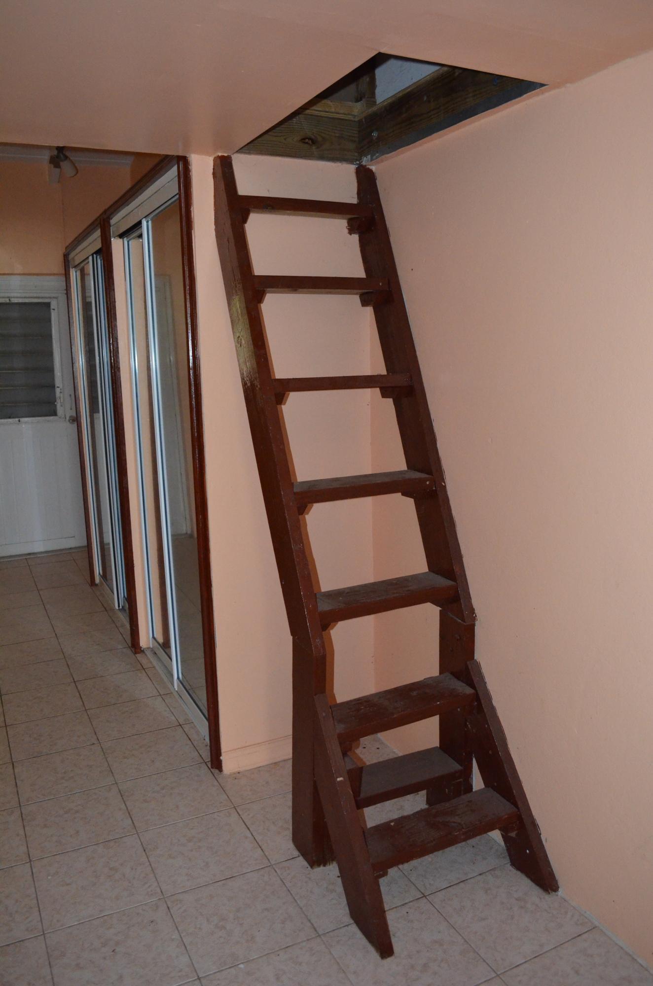 Apartment has attic storage