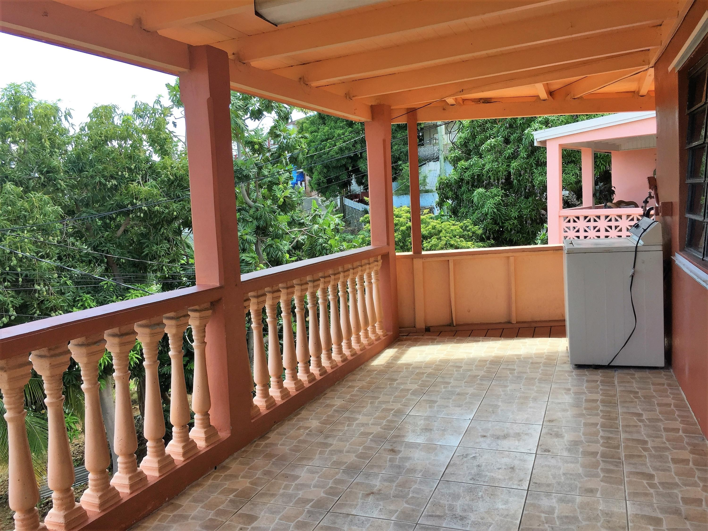 Front porch upstairs