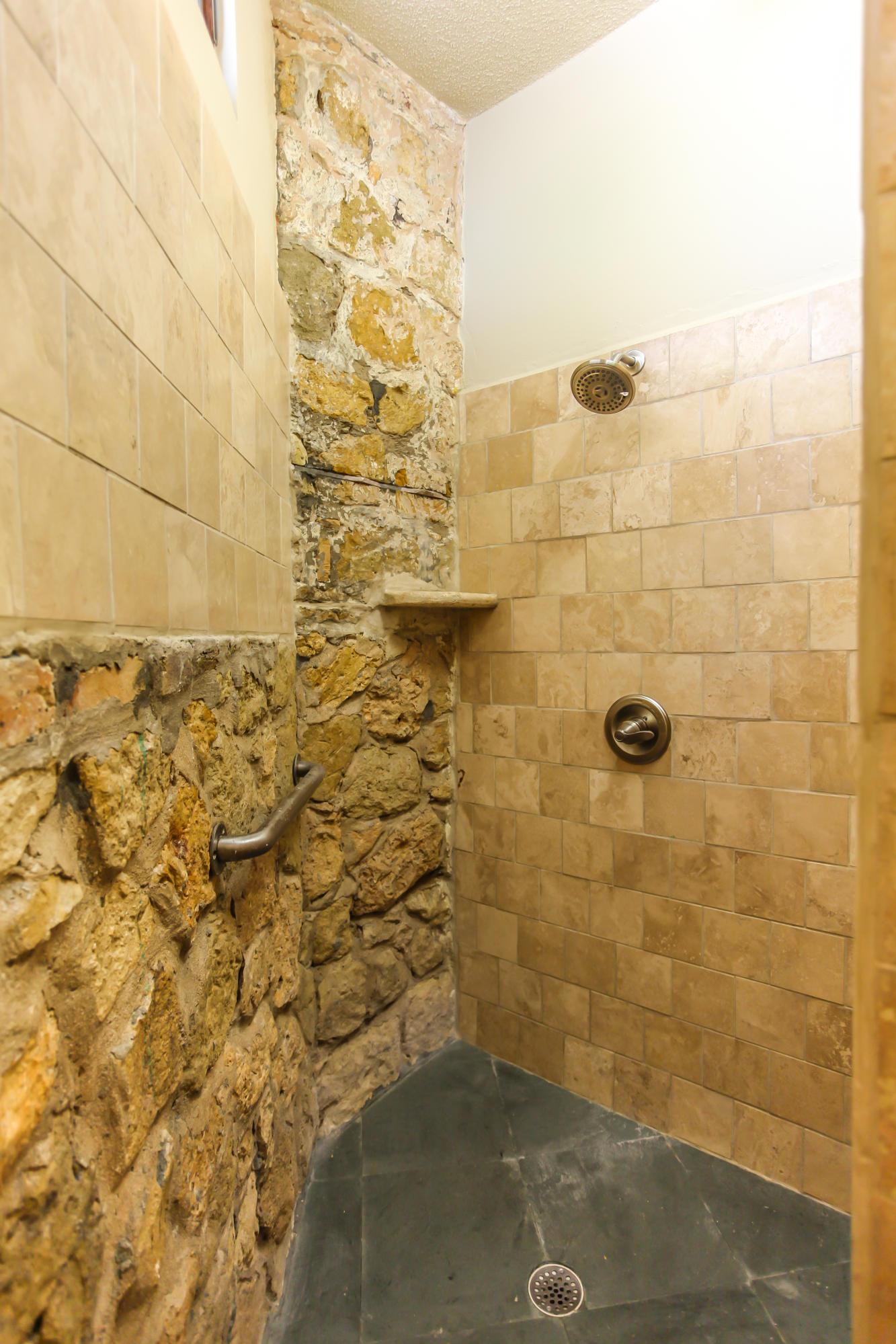 Honeymoon Suite Stone Shower