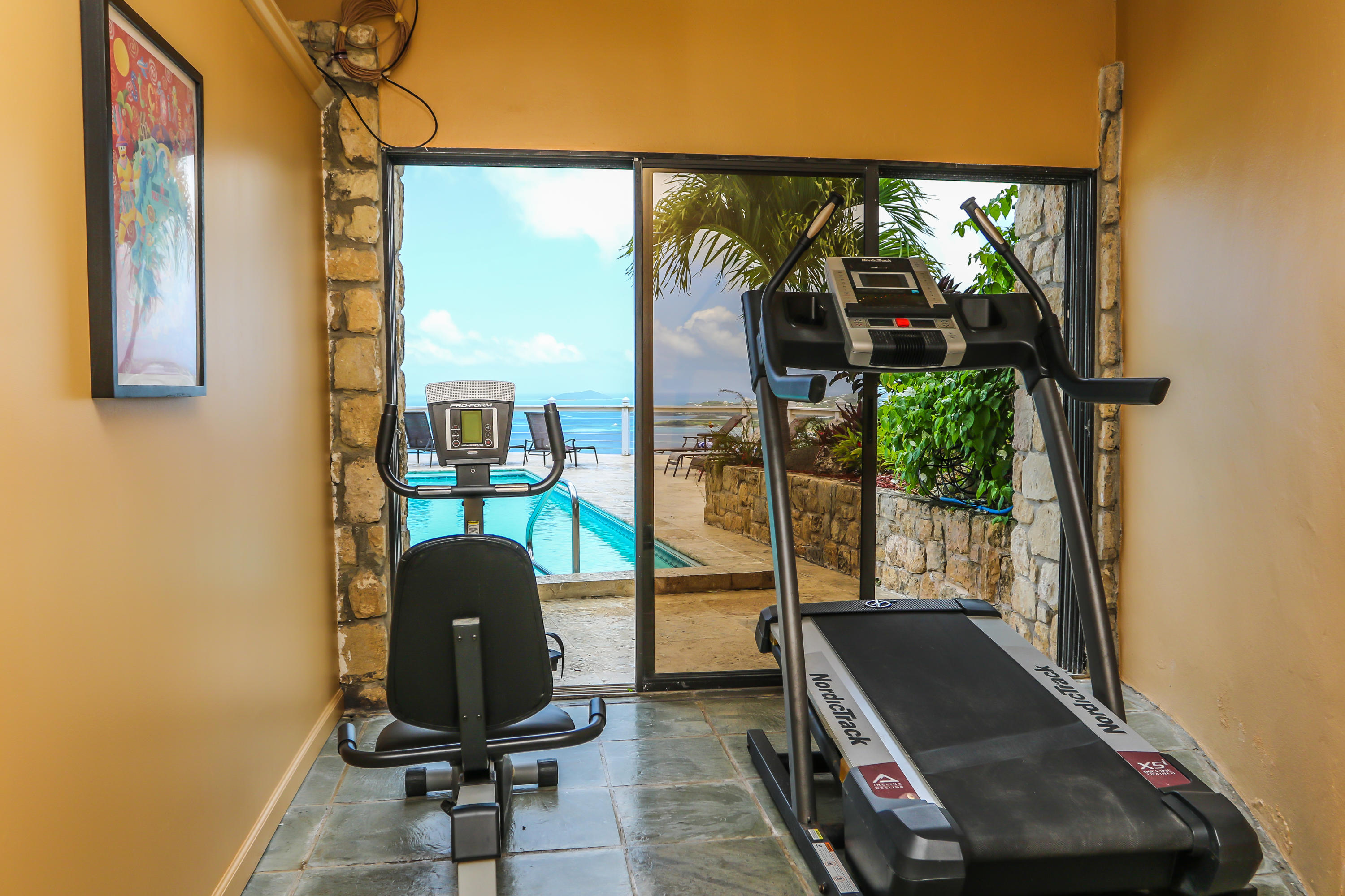 Pool House Exercise Room