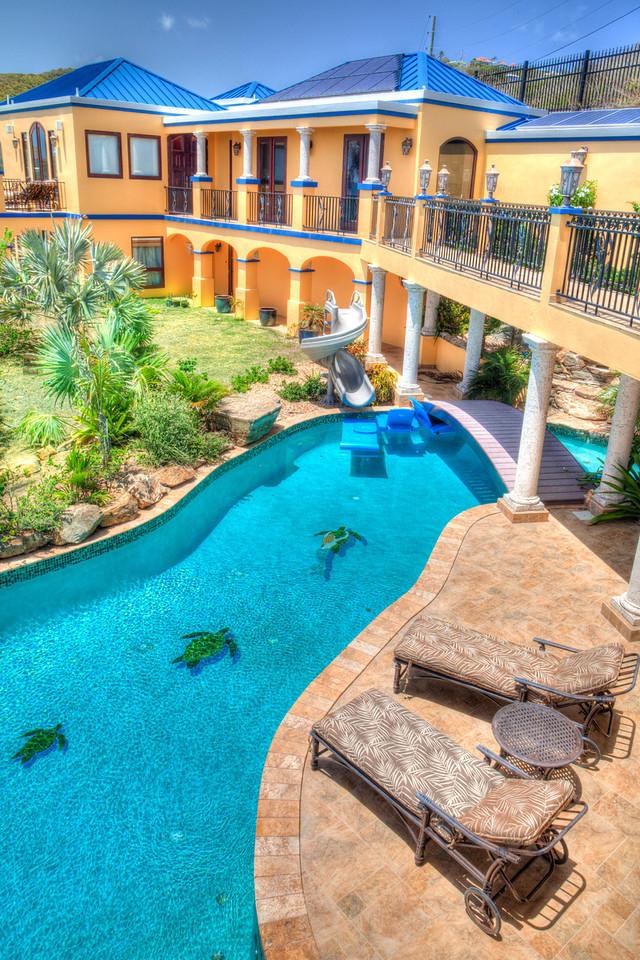 54' x 12' solar heated swimming pool