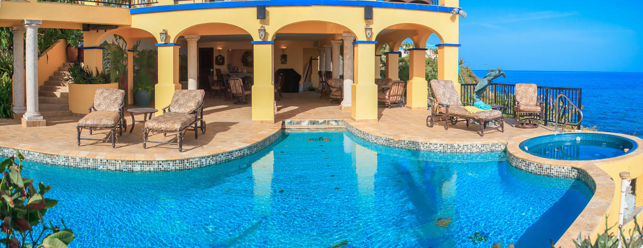 Panoramic of outdoor living space