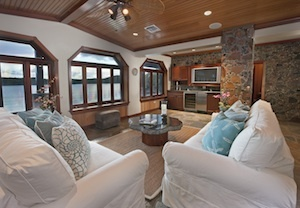 Master wing TV room with wet bar