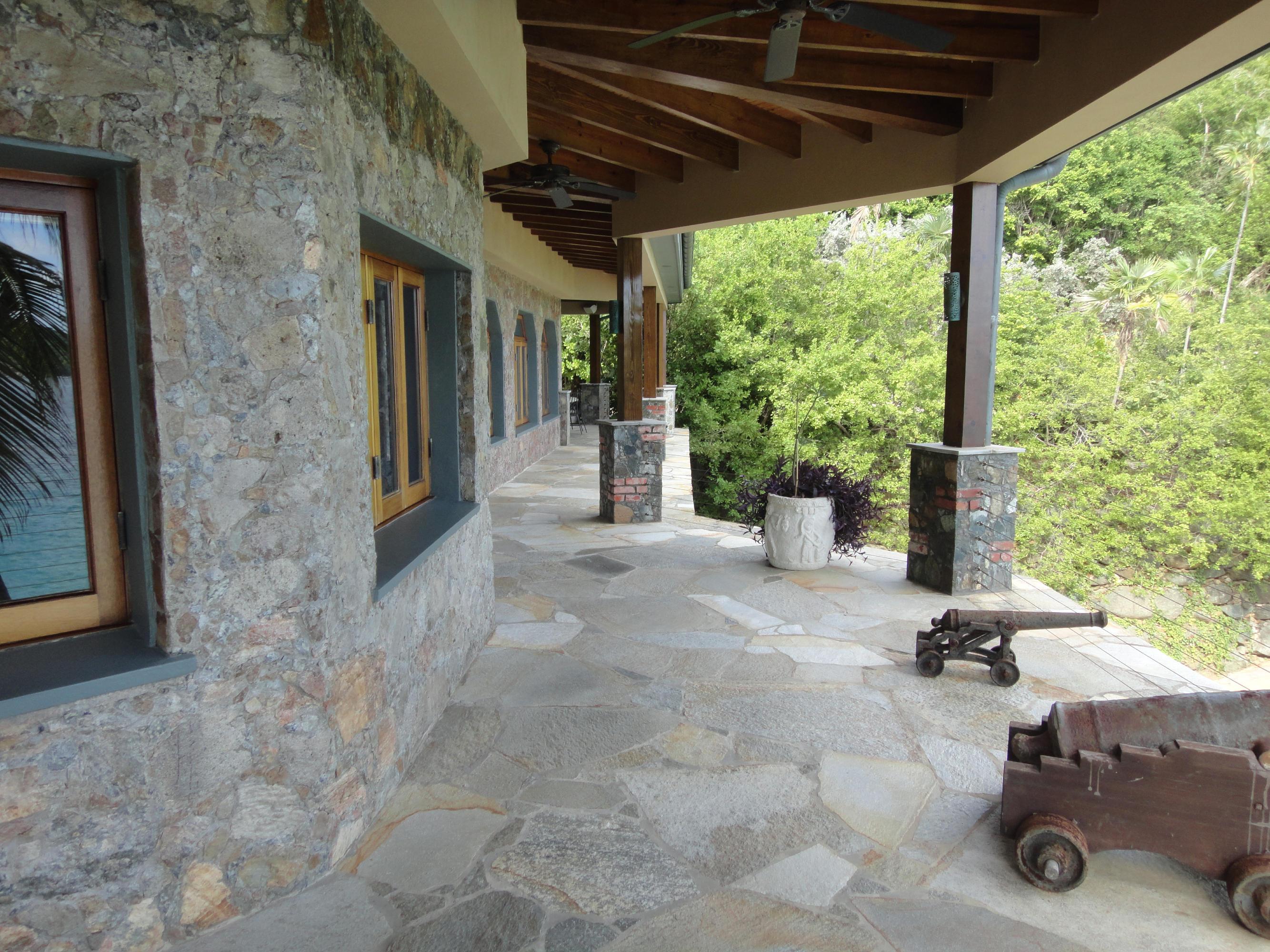 Main house patios