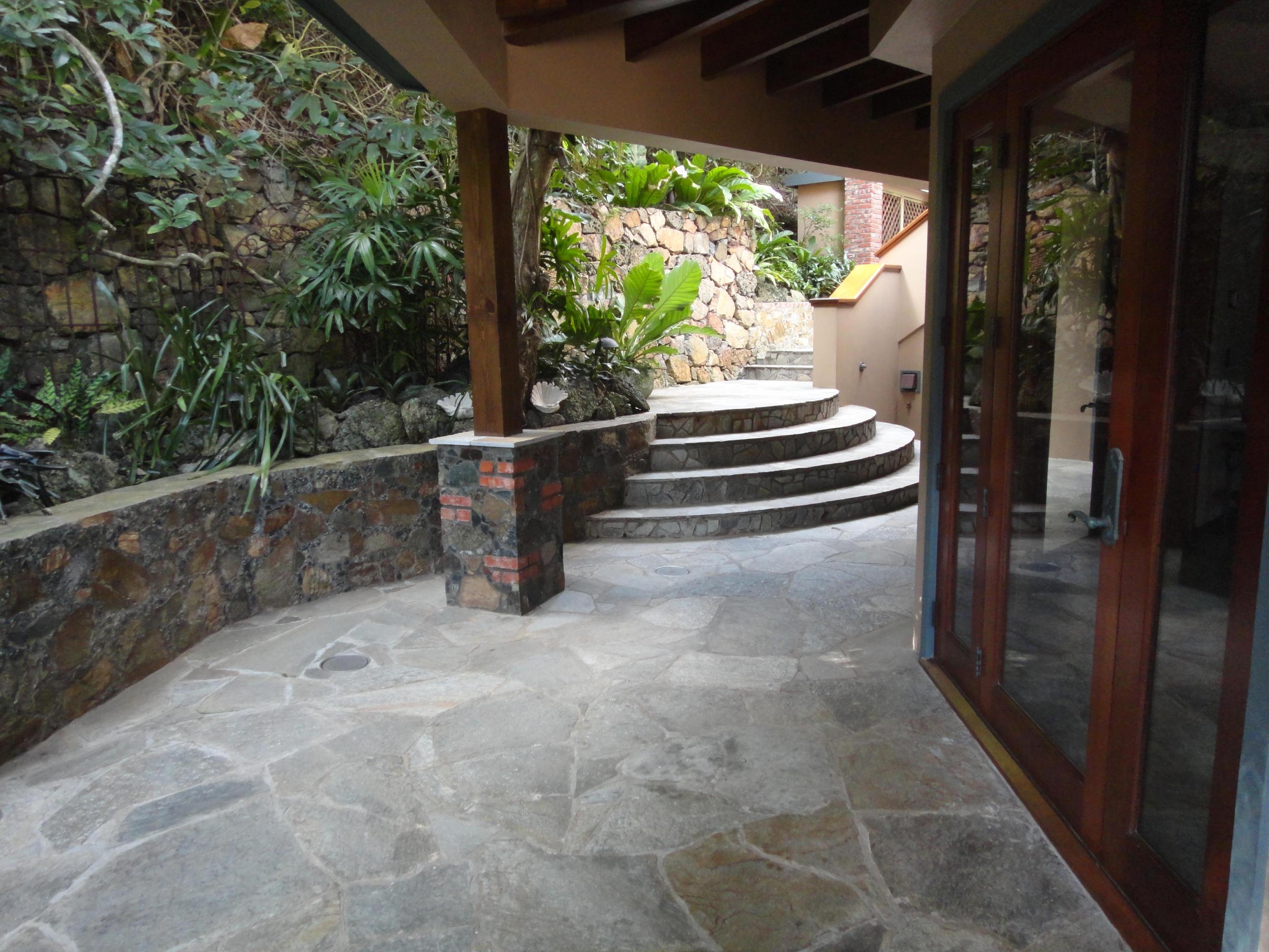 Custom stone walkways