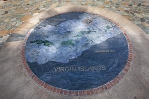 Marble Map of Virgin Islands
