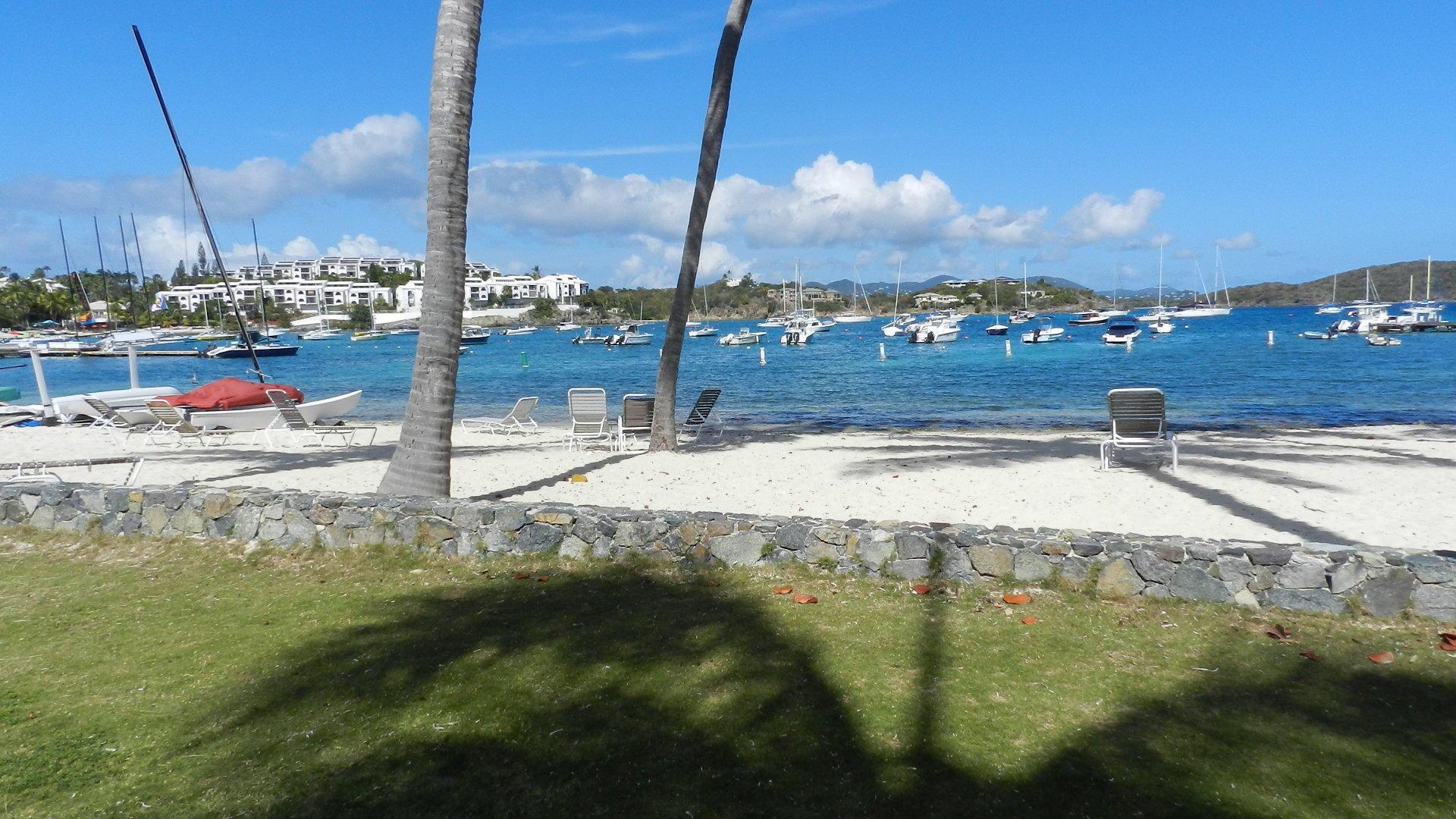 Quiet private beach