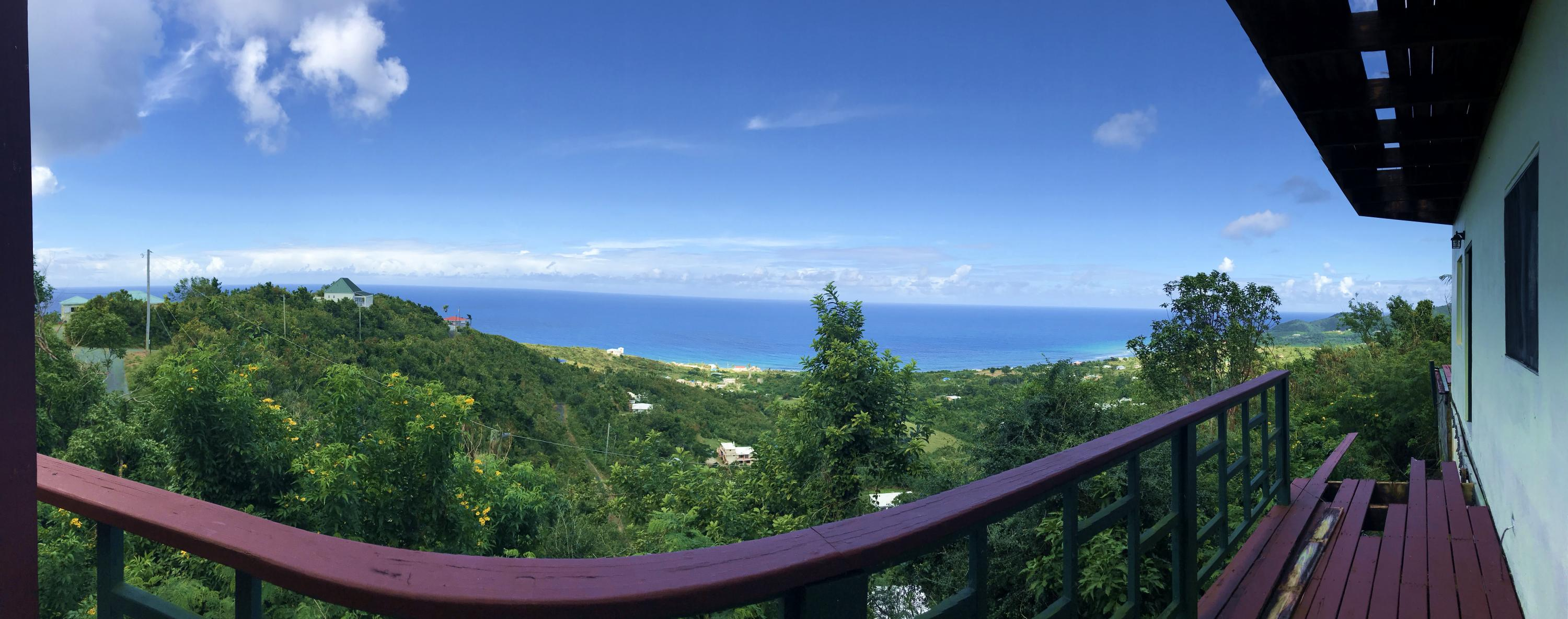 Panoramic from lower level deck