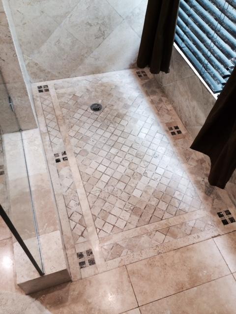 Shower Tiled Floor