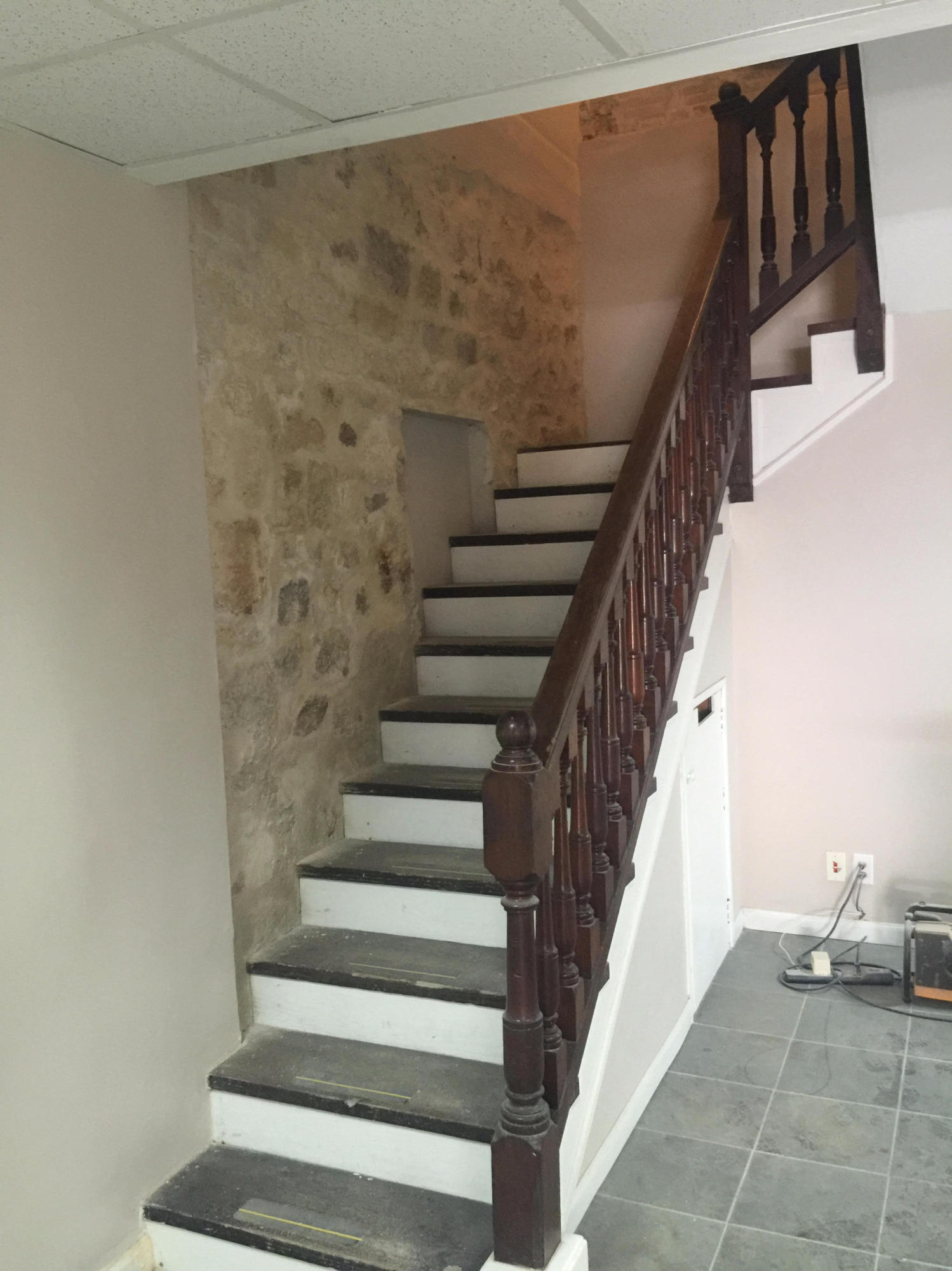 Staircase upstairs