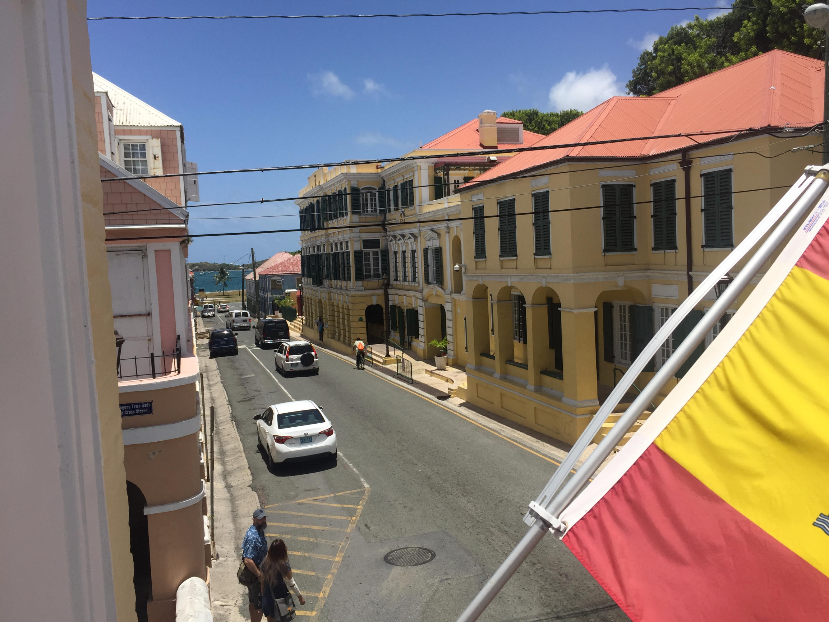 View out to the King Street