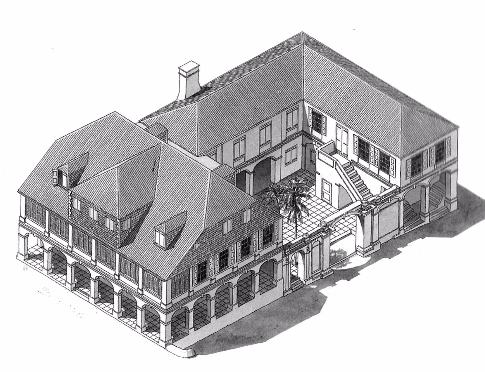 Old Sketch of 52 King street