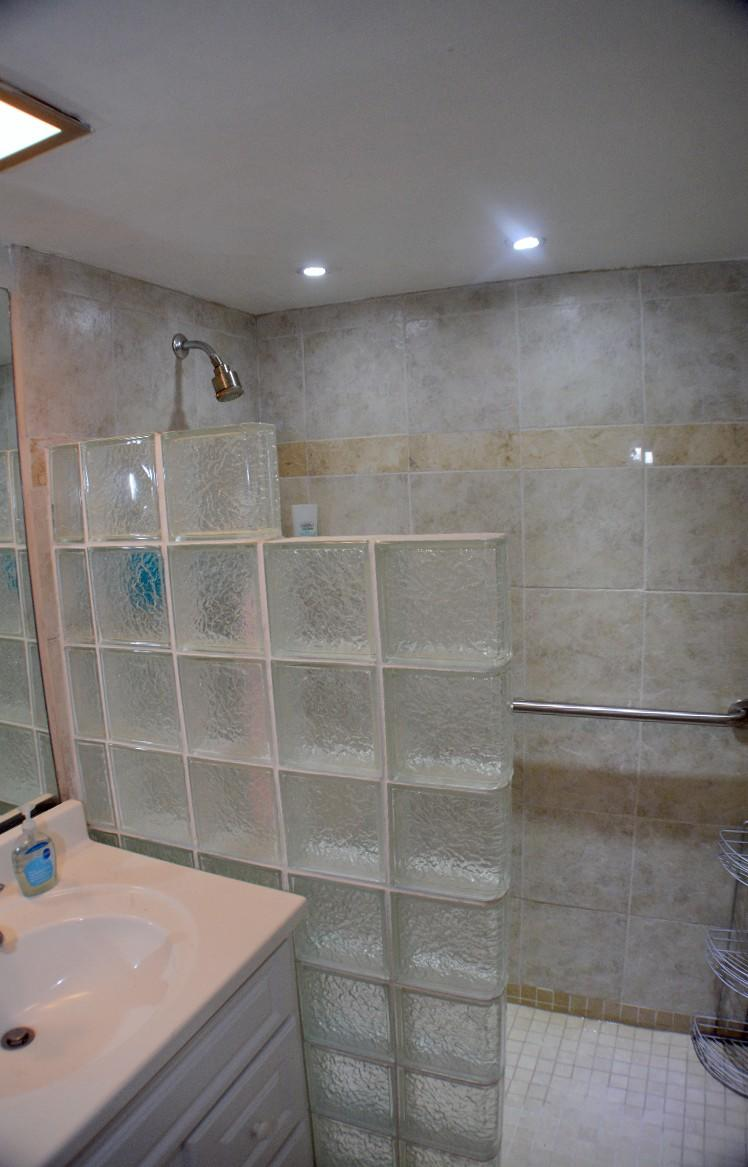 Custom walk in shower