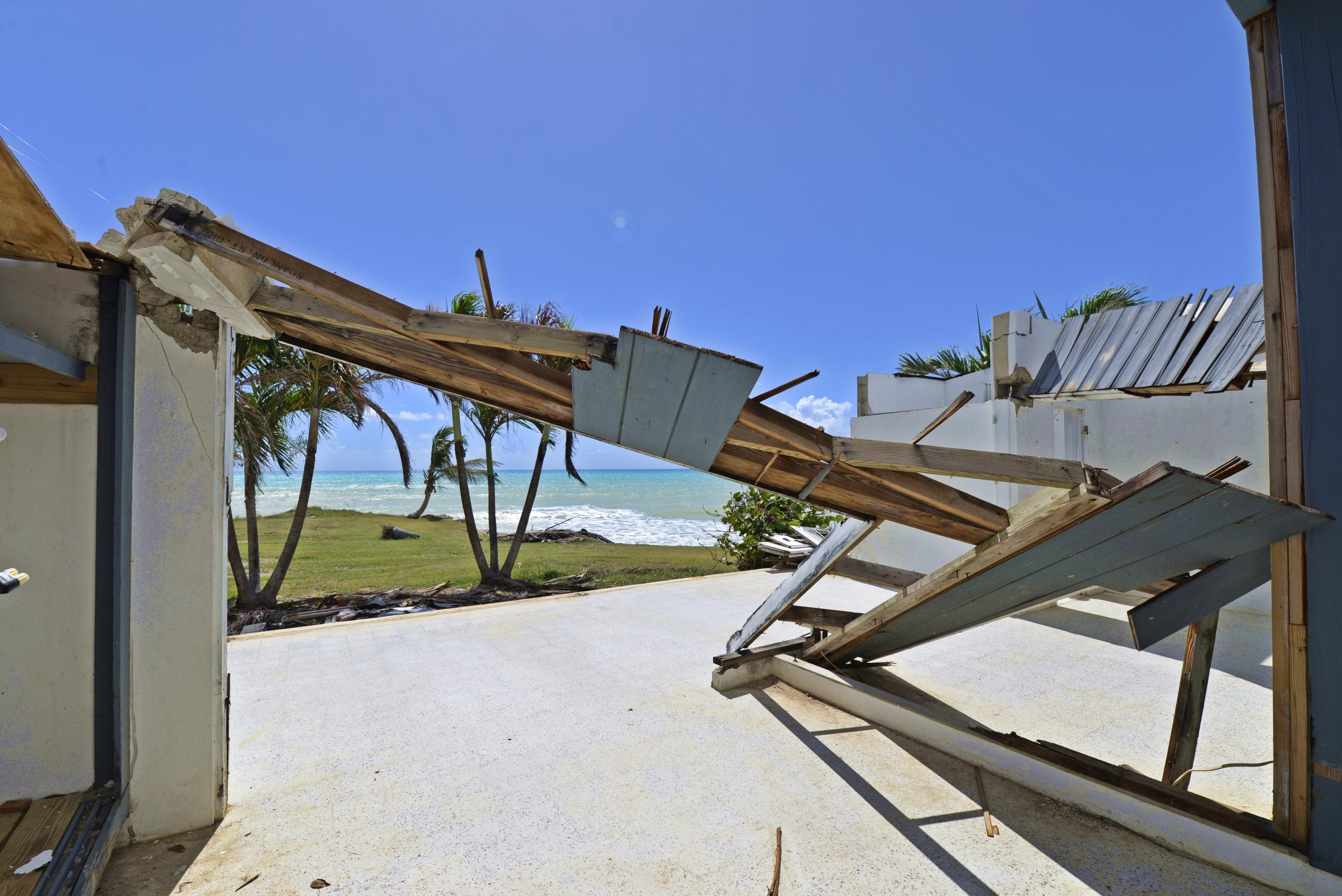 Waterfront structure - hurricane damage