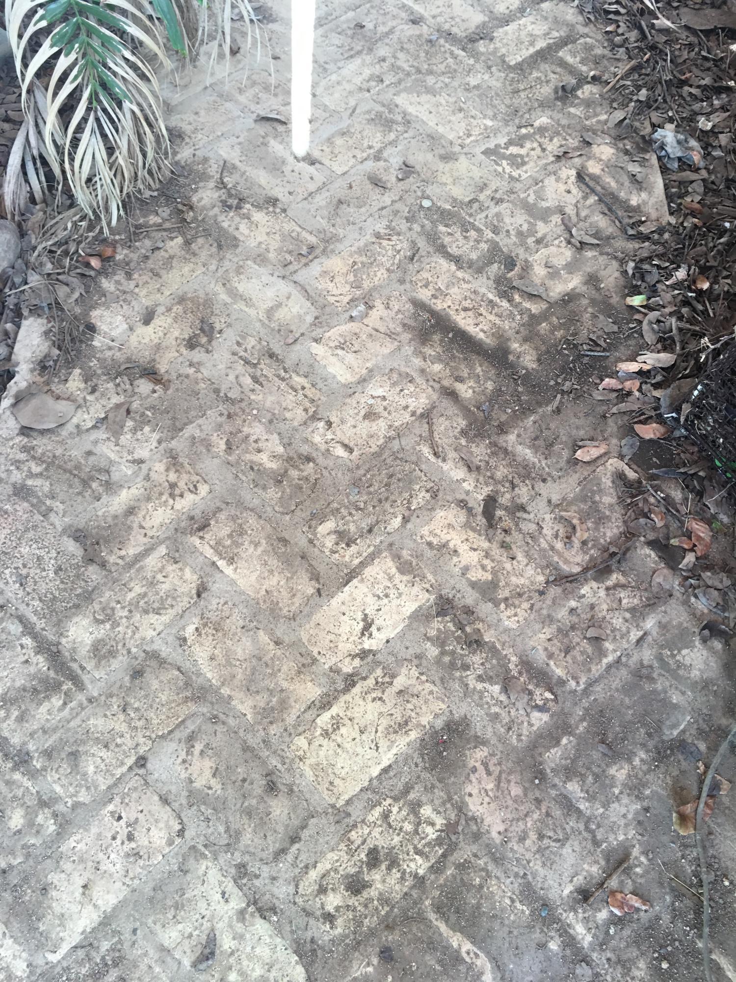Danish brickwork on walkway