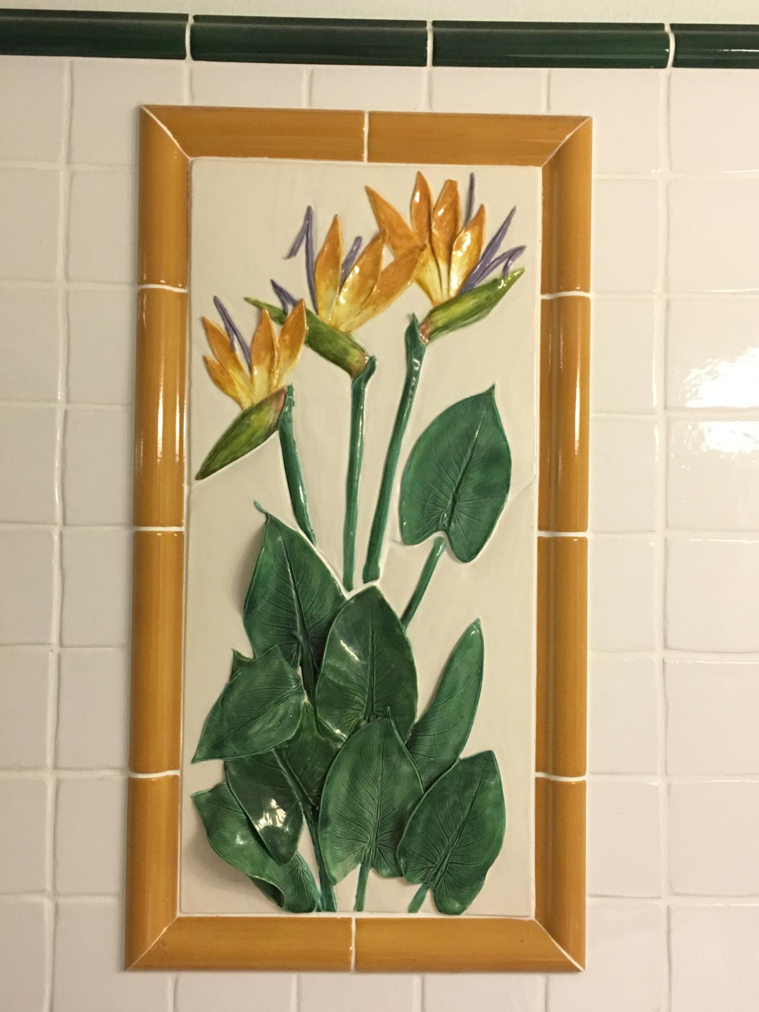 Designer Tile in 2nd Bath