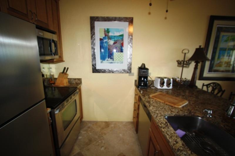 Kitchen and artwork