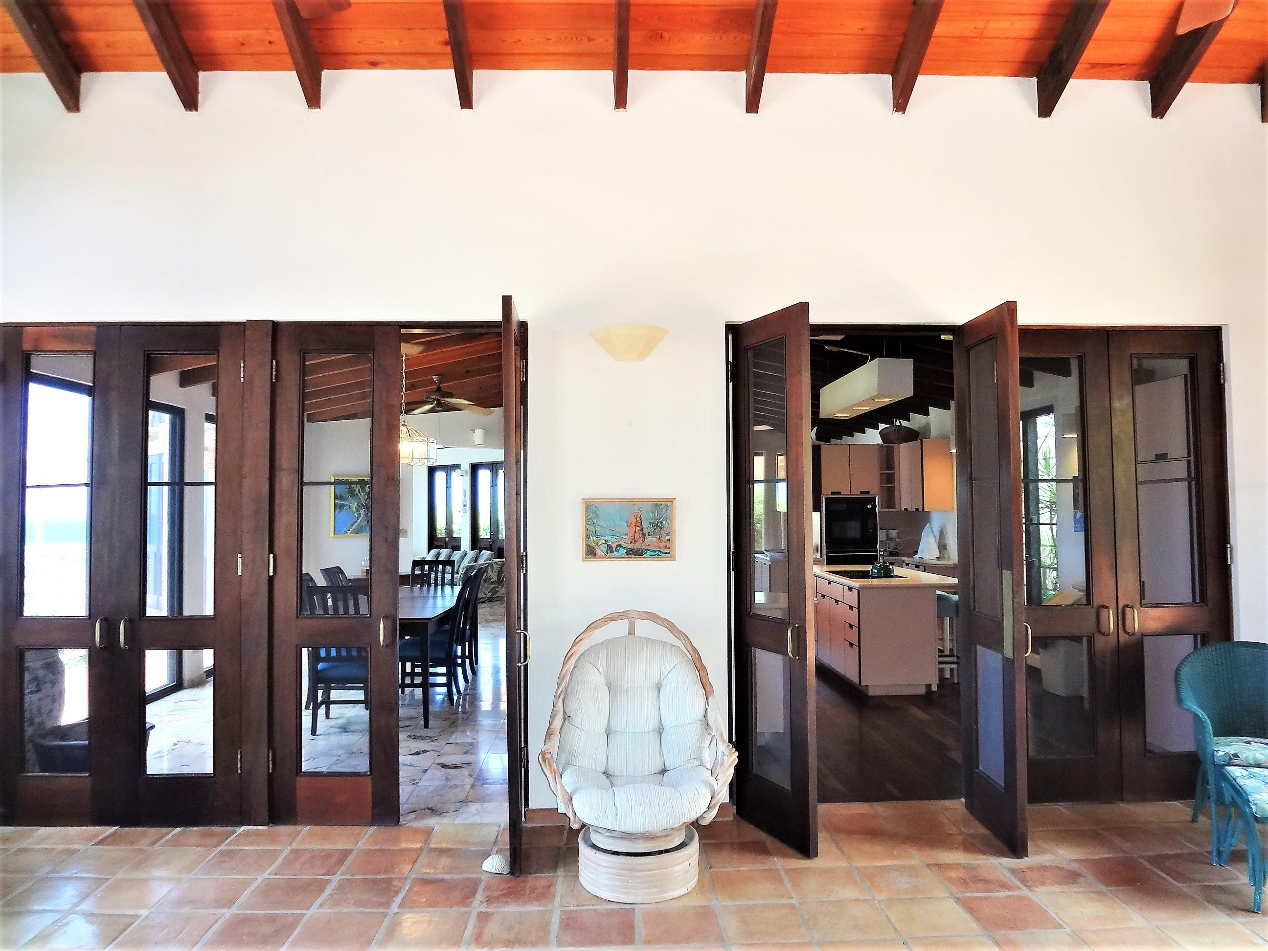 Doors to Kitchen & Dining