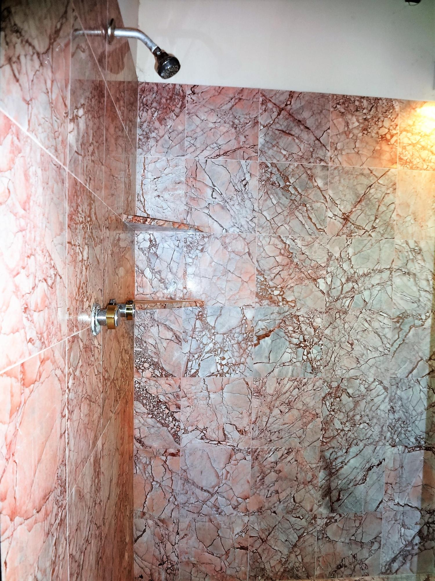 Master Shower Marble Tiled